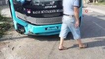 Samandağ'da otomobil ile otobüs çarpıştı: 2 yaralı