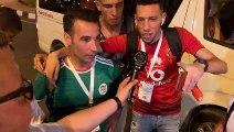 Joie d'un supporter algérien après Sénégal-Algérie (0-1)