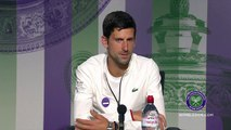 Novak Djokovic faces the media ahead of Wimbledon title defence