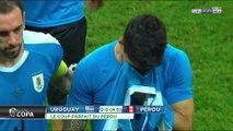 Copa America : Suarez en pleurs après son tir au but manqué