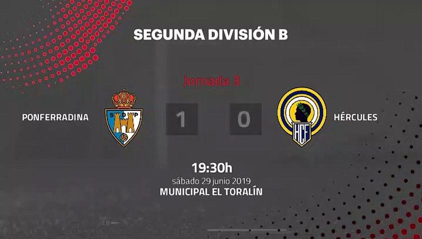 Resumen partido entre Ponferradina y Hércules Jornada 3 Segunda B - Play Offs Ascenso