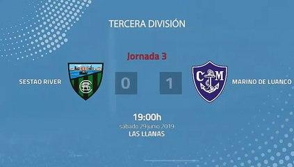 Resumen partido entre Sestao River y Marino de Luanco Jornada 3 Tercera División - Play Offs Ascenso