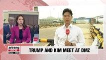 U.S. President Trump and North Korean leader Kim meet at DMZ