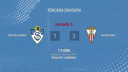 Resumen partido entre Socuéllamos y Algeciras Jornada 3 Tercera División - Play Offs Ascenso