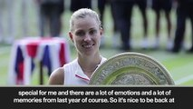 (Subtitled) 'It's completely different' Angelique Kerber on returning to Wimbledon as champion