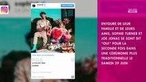 Sophie Turner et Joe Jonas mariés : le couple s'est uni pour la deuxième fois en France