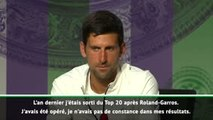 "Wimbledon - Djokovic : ""Même après avoir gagné 15 tournois du Grand Chelem..."""