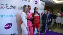 Feature: Top WTA players get dressed up for party