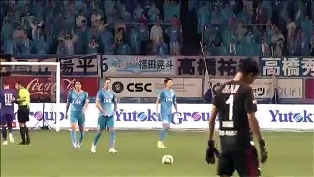Fernando Torres scores amazing long range free kick goal in J1 League, which got disallowed.