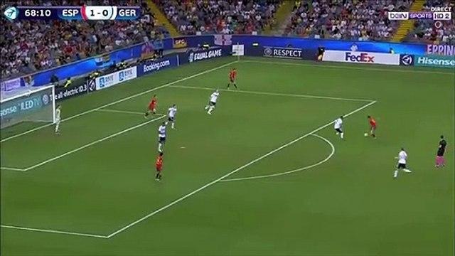 Dani Olmo lob goal against Germany U-21 (2-0)