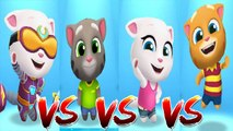 Cyber Angela vs My Talking Tom vs My Talking Angela vs My Talking Ginger — Talking Tom Gold Run — Cute Puppy and Cats