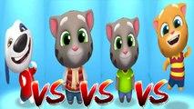 My Talking Hank vs Frosty Tom vs My Talking Ginger vs My Talking Tom — Talking Tom Gold Run — Cute Puppy and Cats