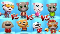 Cyber Angela vs Frosty Tom vs Talking Angela vs Talking Tom vs Talking Ben vs Talking Ginger vs Talking Hank