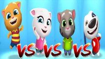 My Talking Ginger vs My Talking Angela vs My Talking Tom vs My Talking Hank — Talking Tom Gold Run — Cute Puppy and Cats