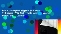 R.E.A.D Simple Ledger: Cash Book | 110 pages | DIN A5 | Simple Income Expense Book | Black Leather