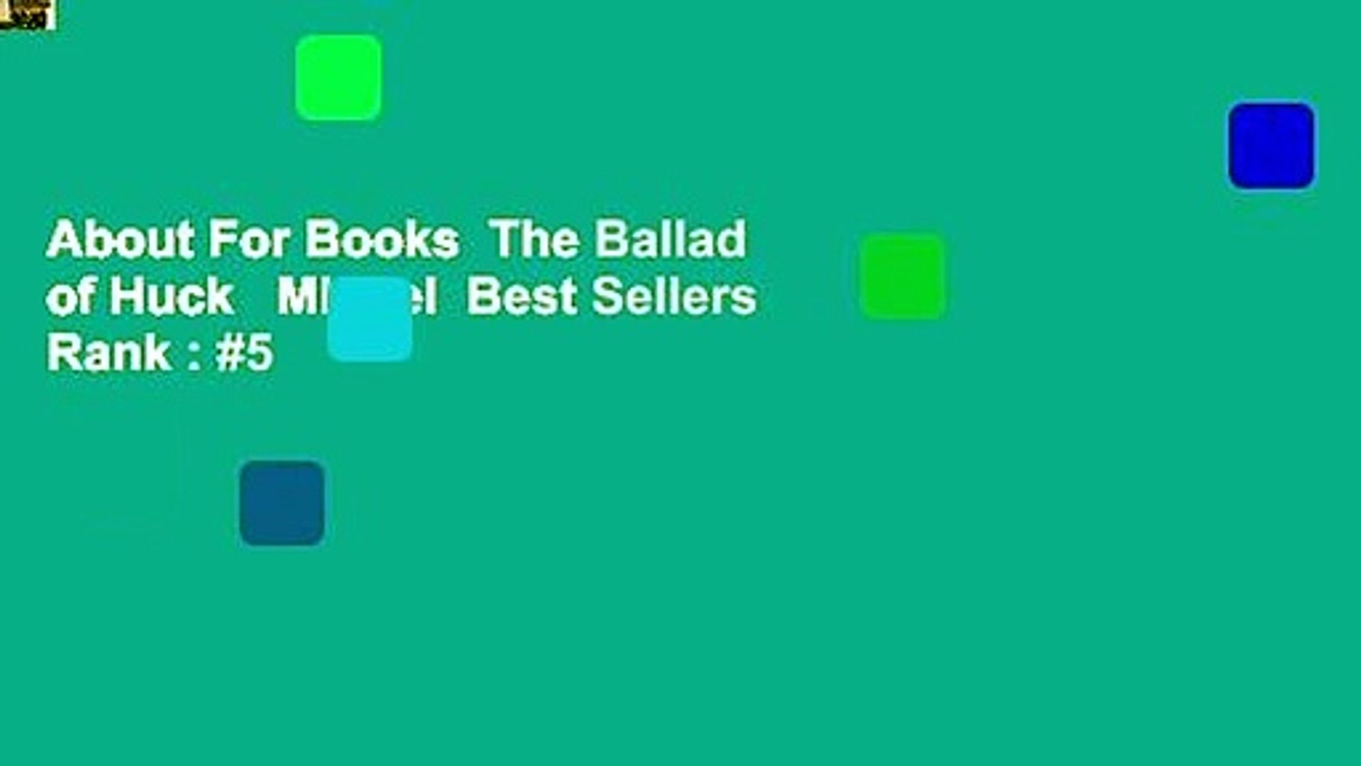 About For Books  The Ballad of Huck   Miguel  Best Sellers Rank : #5