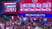 Senatorial bets dance during PDP-Laban's miting de avance