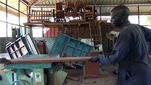 L'atelier de fabrication de meubles en bois