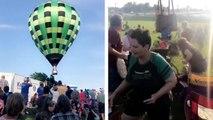 Une montgolfières s'écrase sur des festivaliers après que le pilote ait perdu le contrôle