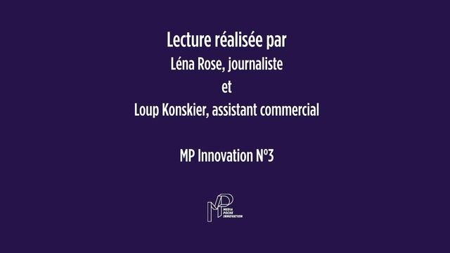 Podcast MP Innovation // Léna Rose et Loup Konskier