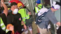 Hong Kong protesters smash windows and try to storm government headquarters
