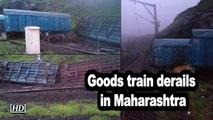 Goods train derails in Maharashtra