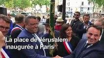 Inauguration de la place de Jerusalem à Paris