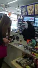 No Face Works at Convenience Store in Japan