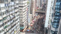Hundreds of thousands protest against extradition bill on 22nd anniversary of Hong Kong's handover to China