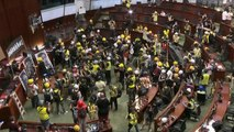 """Hong Kong police threaten protesters with """"force"""""""