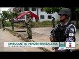 Ambulantes venden brazaletes de la Guardia Nacional en 80 pesos   Noticias con Francisco Zea