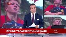 Rizeli Osman Çavuşoğlu Zipline Yaparken Tulum Çaldı