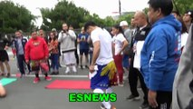 Everything Manny Pacquiao Does He Does In His Way Look At How He Stands Up