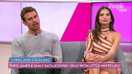 Theo James and Emily Ratajkowski Reveal When Its Okay To Tell Your Spouse a Little White Lie