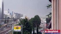 Coup de vent et orage à sur Grenoble
