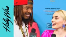 Fetty Wap & Meg Donnelly Play 'Explain The Post' On The ARDYS Red Carpet