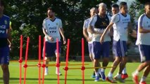 Argentina train ahead of Copa America semi-final against Brazil