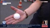 Ces grêlons de la taille d'une balle de golf ont causé de gros dégâts matériels en Auvergne-Rhône-Alpes