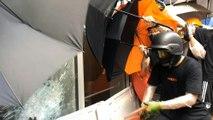 Hong Kong protesters smash their way into parliament