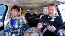 LEGENDADO - LATE LATE SHOW   Jonas no Carpool Karaoke