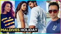 Ravi Dubey, Sargun Mehta, Aashka Goradia, Rohit Roy VACATION In Maldives