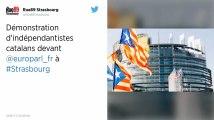 Strasbourg : Plusieurs milliers de Catalans manifestent devant le Parlement européen
