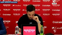 Les larmes de Pablo Sarabia lors de sa conférence de presse d'adieu à Séville