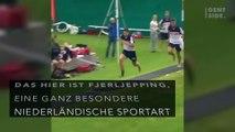 Was ist Fjerljeppen? Dieser traditionelle, niederländische Sport ist völlig verrückt und man möchte ihn unbedingt ausprobieren