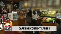 New regulations requiring coffee shops to label caffeine content to be applied in 2020