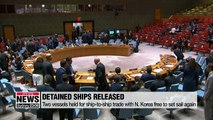 S. Korea to release ships held for trade with N. Korea
