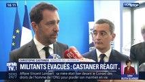 """Militants écologistes gazés: pour Christophe Castaner, l'intervention des forces de l'ordre était """"parfaitement régulière et légitime"""""""