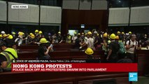 Hong Kong Protests: Police Back off as Protesters Swarm Into Parliament