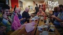 À San Francisco, des hommes se retrouvent pour tricoter ensemble