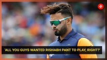 World Cup: Right to send Rishabh Pant at No 4, says Rohit Sharma